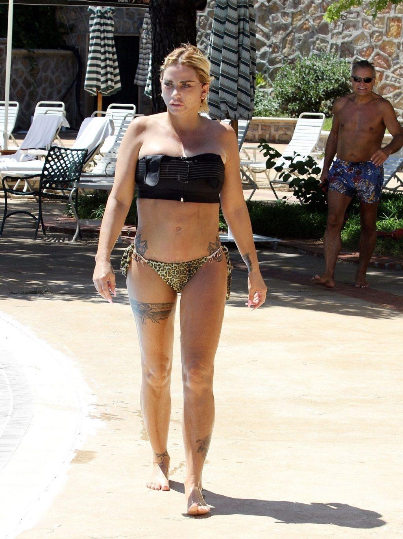 Katie Price 2019 : Katie Price – Wears leopard printed bikini by the poolside in Turkey-41