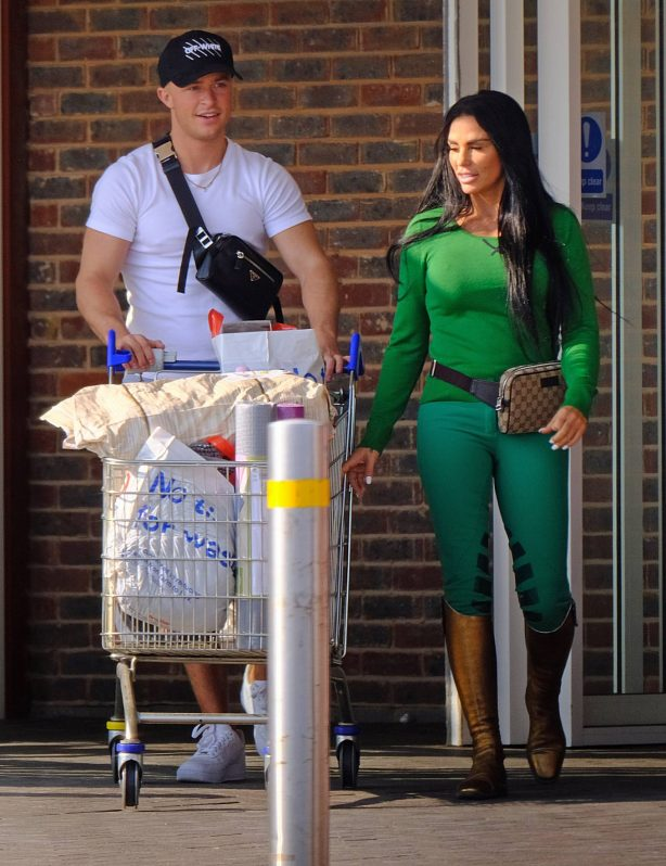 Katie Price with a young Shopping candids - adds