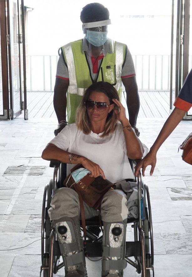Katie Price with boyfriend Carl Woods in the Maldives