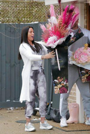Katie Price - With boyfriend Carl Woods seen on valentines day in London