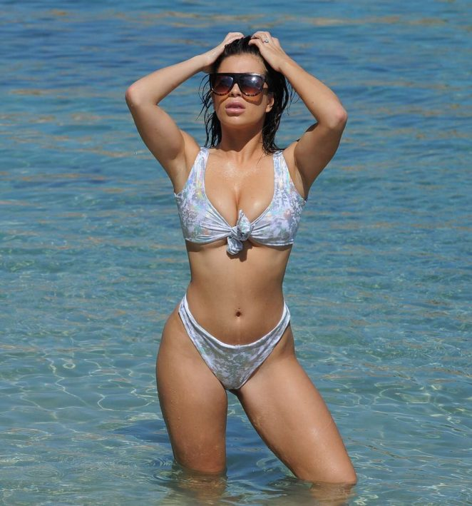 Katie Salmon in Bikini on the beach in Cape Verde