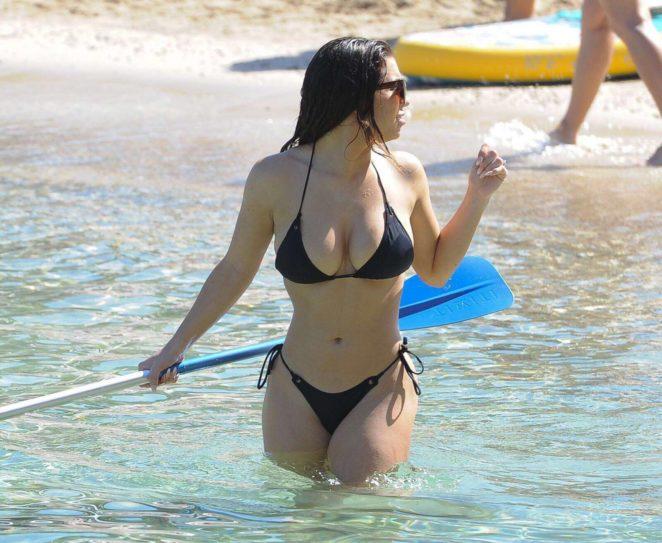 Katie Salmon in Black Bikini in Ibiza