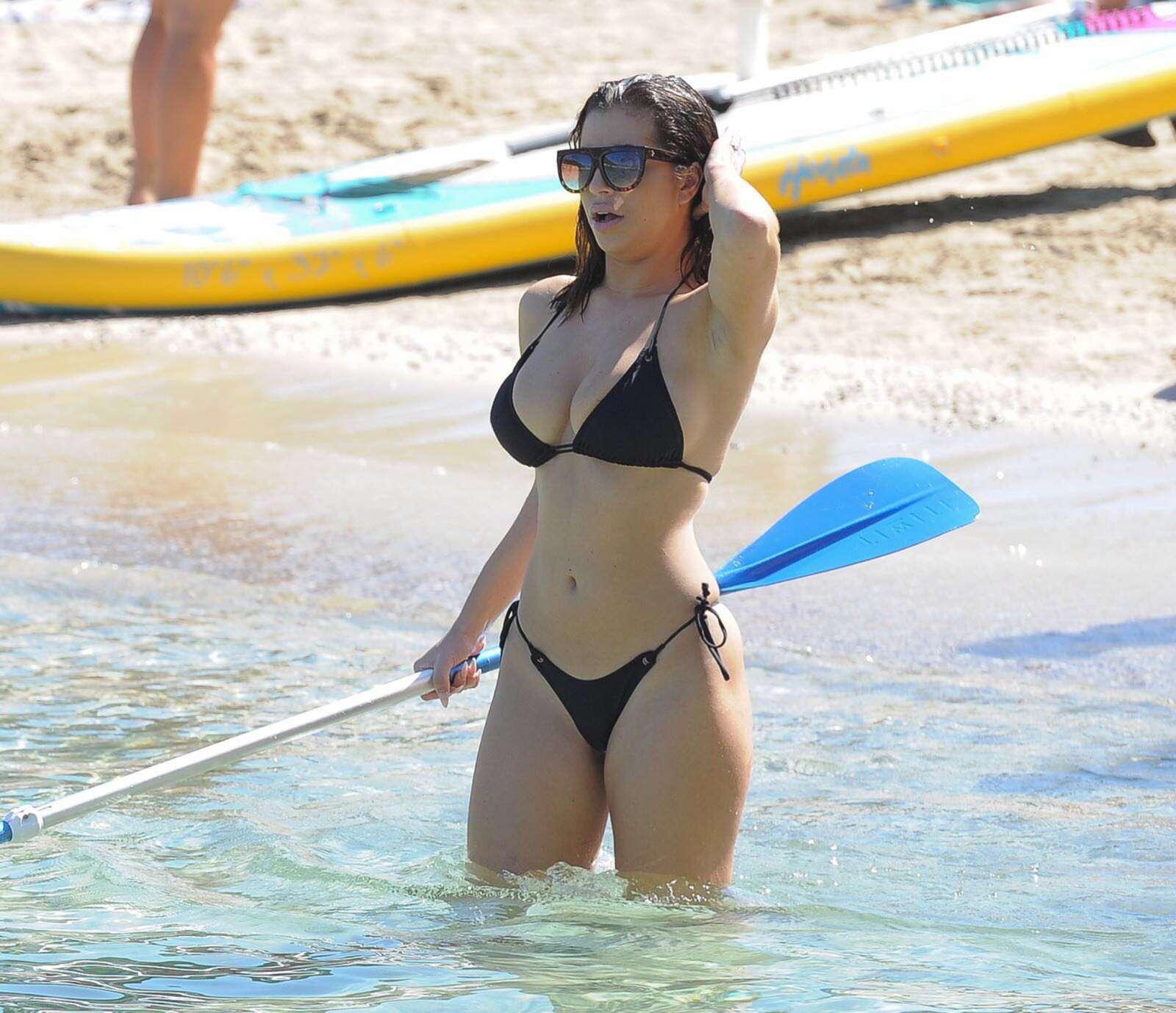 Katie Salmon in Black Bikini in Ibiza Pic 3 of 35