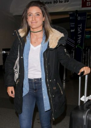 Katie Waissel - Arriving at LAX Airport in Los Angeles