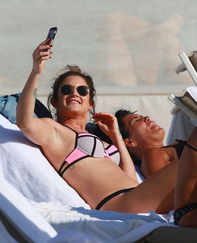 Katie Waissel in Bikini on New Year's Day in Miami