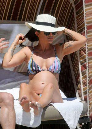 Katie Waissel in Bikini on the beach in Miami