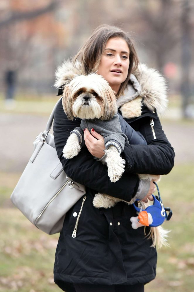Katie Waissel walking her dog Norman in New York