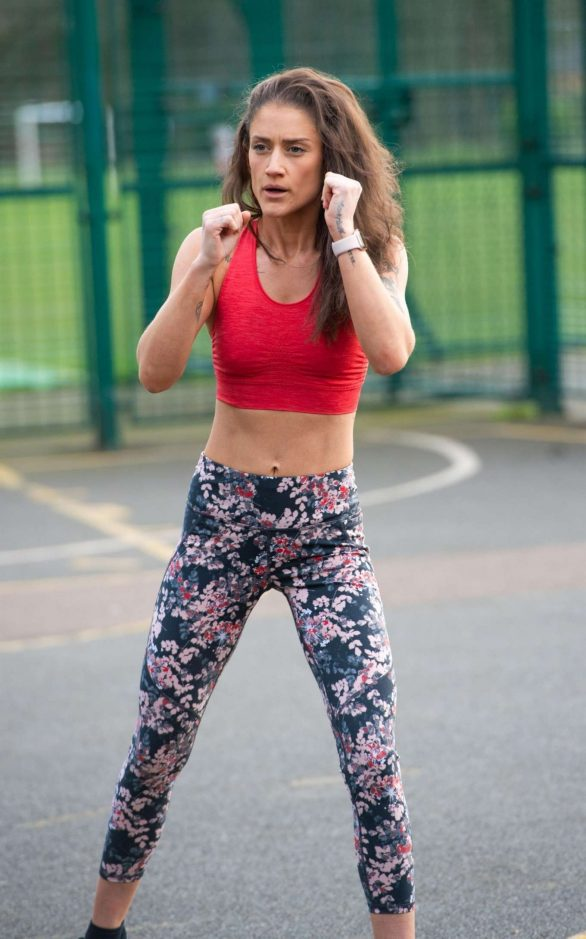 Katie Waissel - Workout in a North London Park