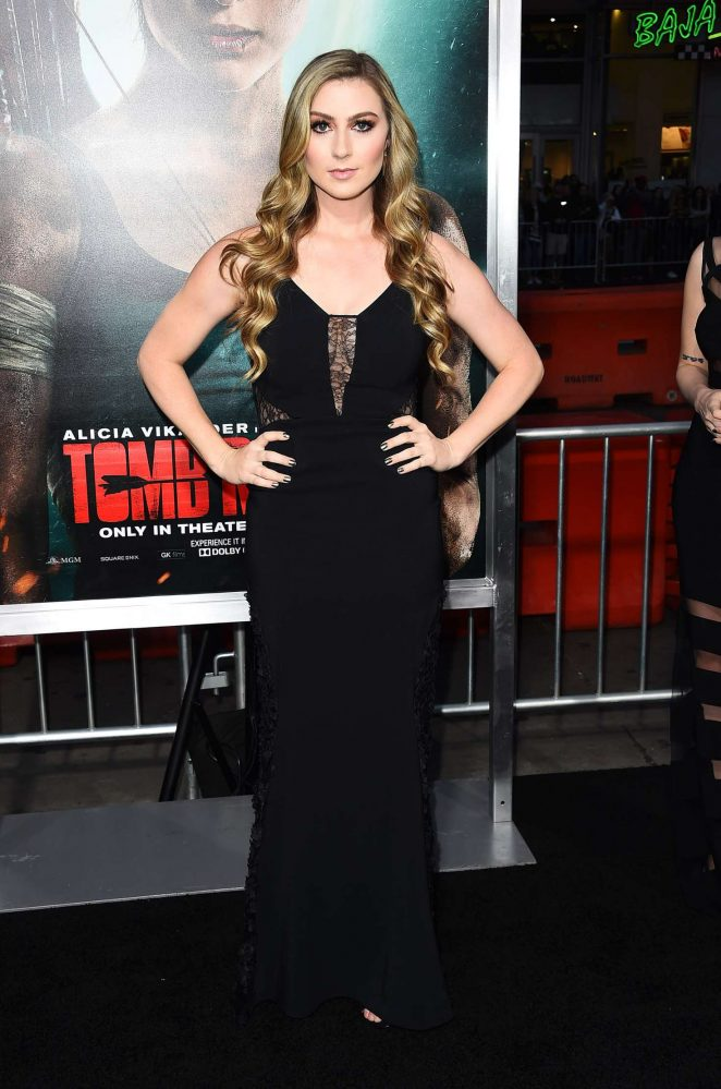 Katie Wilson - 'Tomb Raider' Premiere in Hollywood