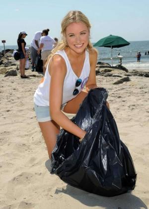 Katrina Bowden - Promotes Eco Friendly Awareness at Rockaway Beach