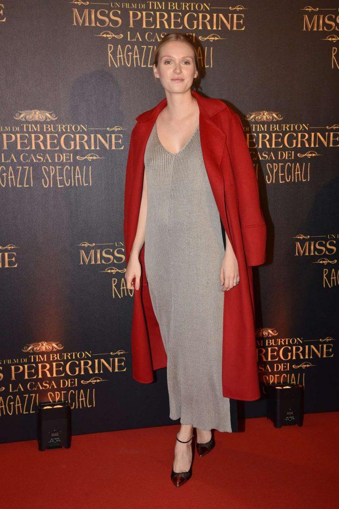 Katsiaryna Shulha - 'Miss Peregrine's Home for Peculiar Children' Premiere in Rome