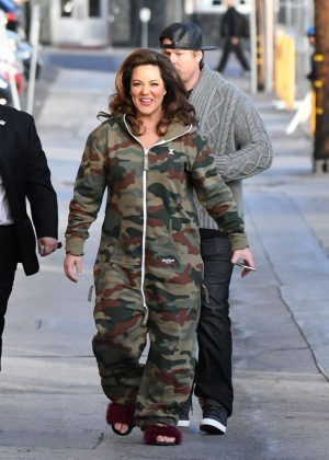 Katy Mixon - Arriving at Jimmy Kimmel Live! in Los Angeles