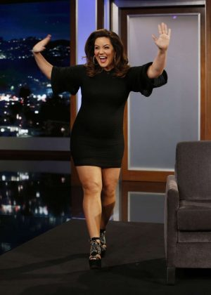 Katy Mixon at Jimmy Kimmel Live! in Los Angeles