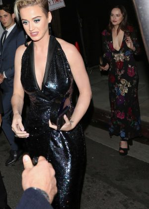 Katy Perry and Dakota Johnson - Leaving Red Studios in Hollywood