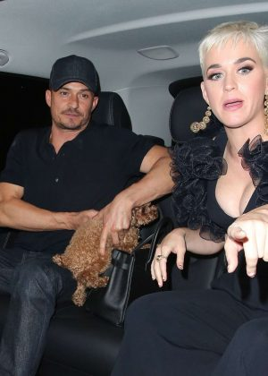 Katy Perry and Orlando Bloom at The Chiltern Firehouse in London