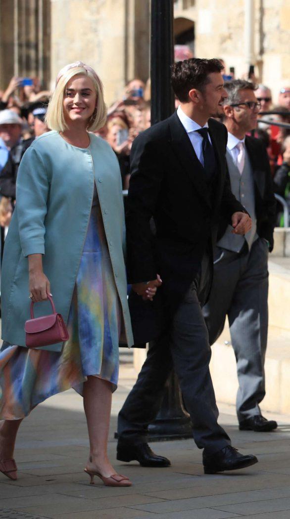 Katy Perry and Orlando Bloom at wedding of Ellie Goulding to Caspar Jopling in York - London
