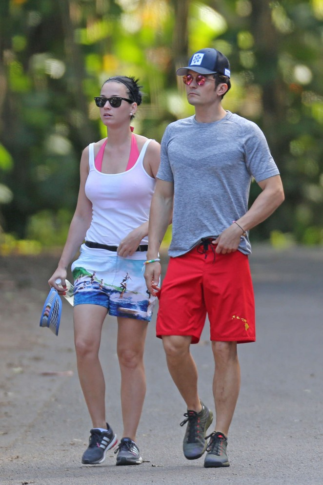 Katy Perry and Orlando Bloom Hiking in Hawaii