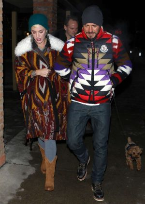 Katy Perry and Orlando Bloom - Out for dinner in Aspen