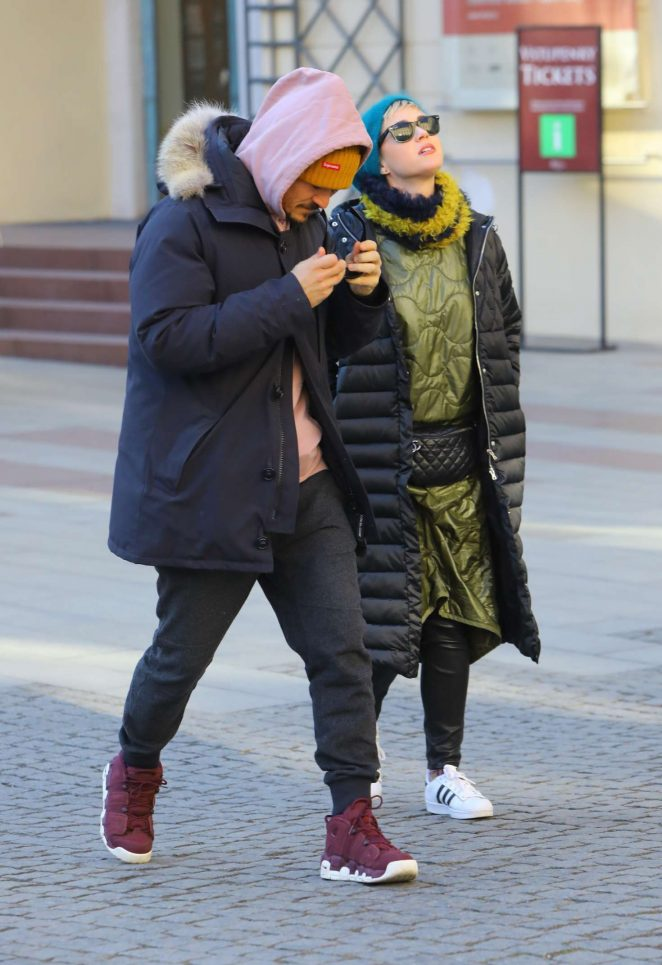 Katy Perry and Orlando Bloom out in Prague