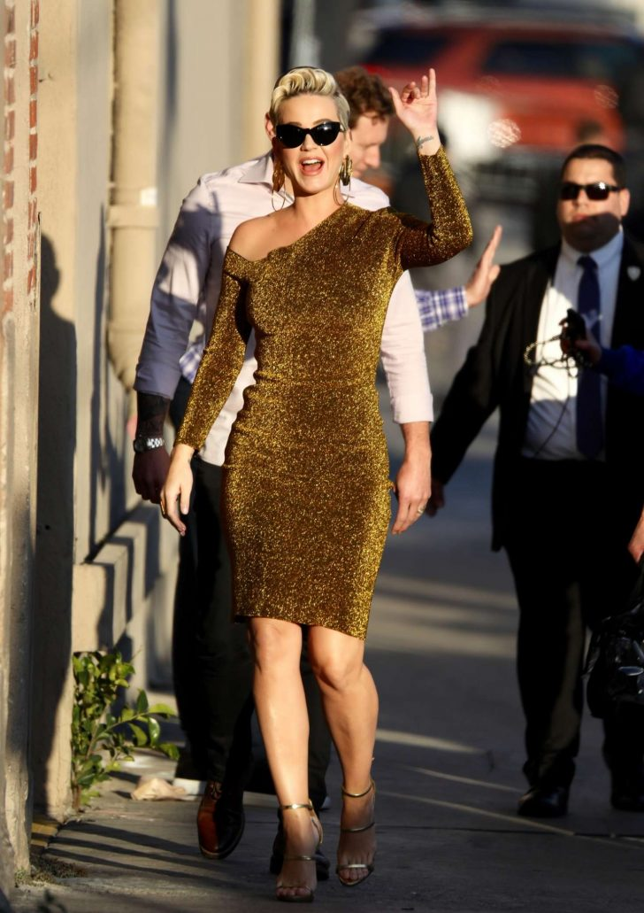 Katy Perry - Arrives at Jimmy Kimmel Live! in Los Angeles
