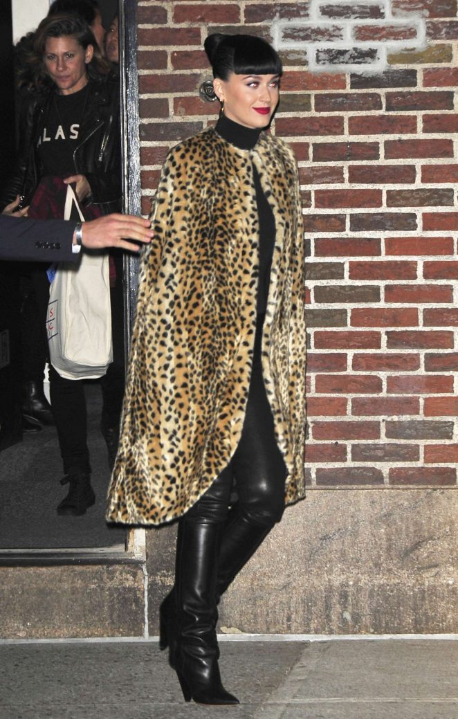 Katy Perry - Arrives at 'The Late Show With Stephen Colbert' in New York