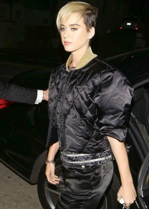 Katy Perry Arrives to Giorgio Baldi for the Chanel event in Santa Monica