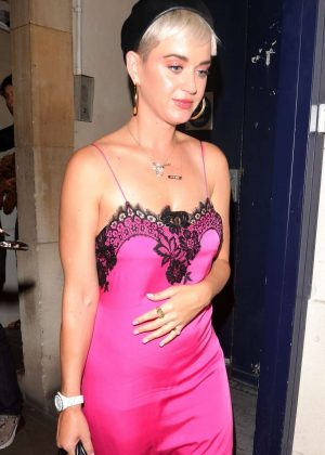Katy Perry - Arriving at Annabel's Nightclub in London