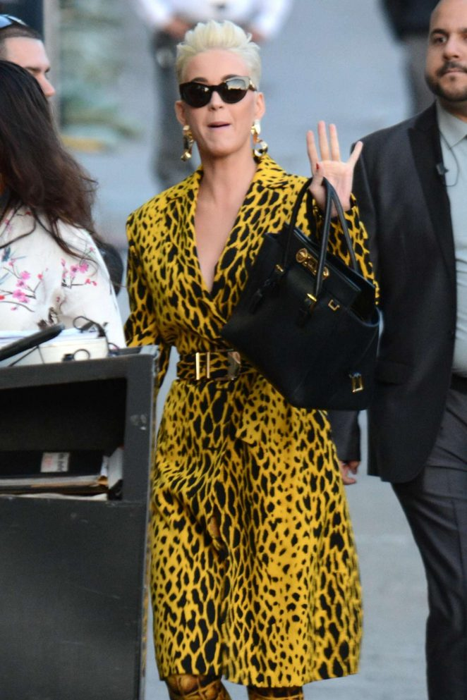 Katy Perry - Arriving at Jimmy Kimmel Live! in LA