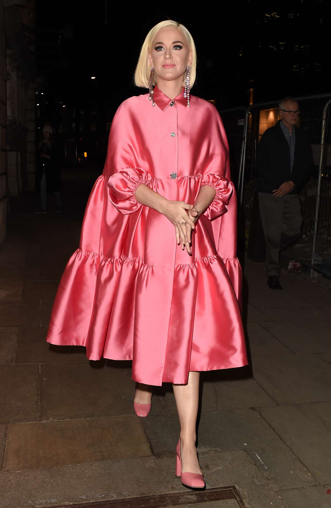 Katy Perry - Arriving at Shaftesbury theatre in London