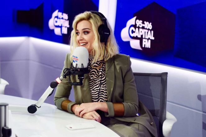 Katy Perry at Capital FM Radio in NYC