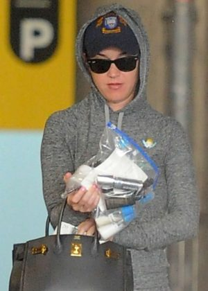 Katy Perry at Heathrow Airport in London