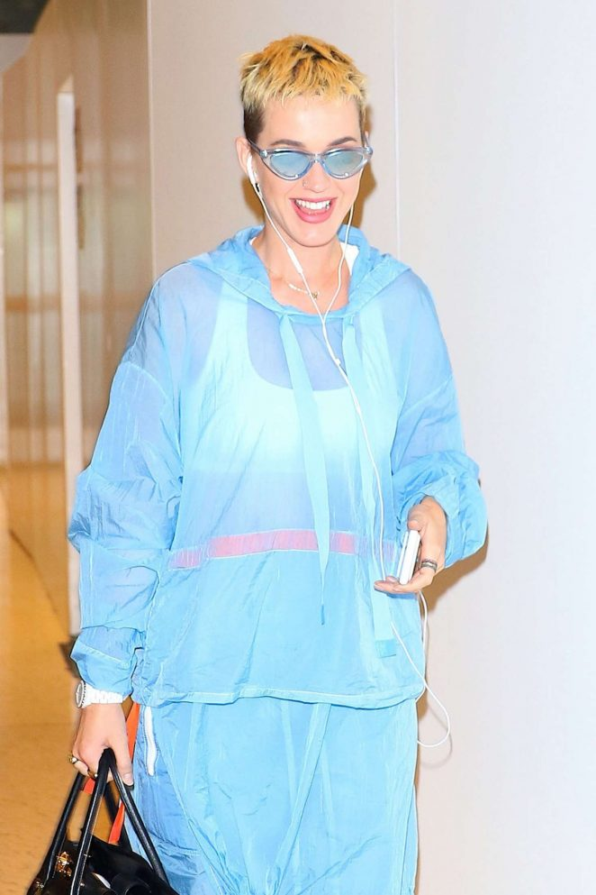 Katy Perry at JFK airport in New York