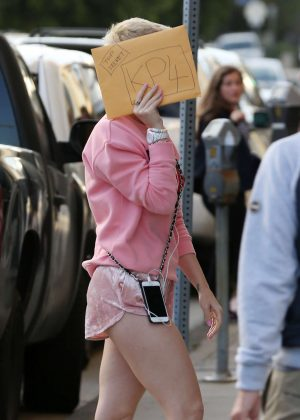 Katy Perry at Recording studio in Santa Monica