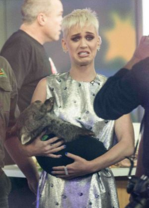 Katy Perry at 'Sunrise' breakfast television show in Sydney