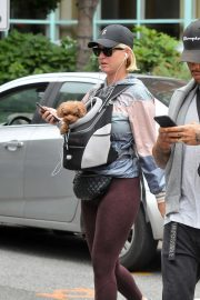 Katy Perry - carries Poodle Nugget in Washington DC