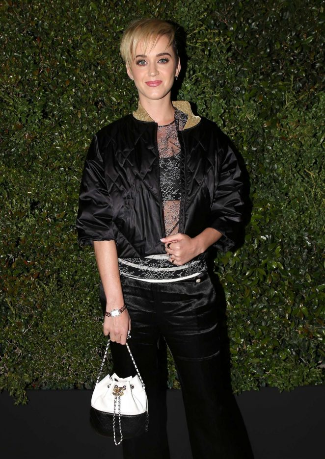 Katy Perry – Chanel Dinner hosted by Pharrell Williams in Los Angeles