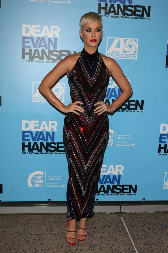 Katy Perry - 'Dear Evan Hansen' Center Theatre Group Ahmanson Theatre Opening in LA