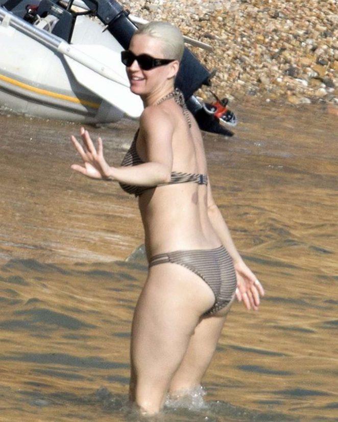 Katy Perry in Bikini at the Beach in Ibiza