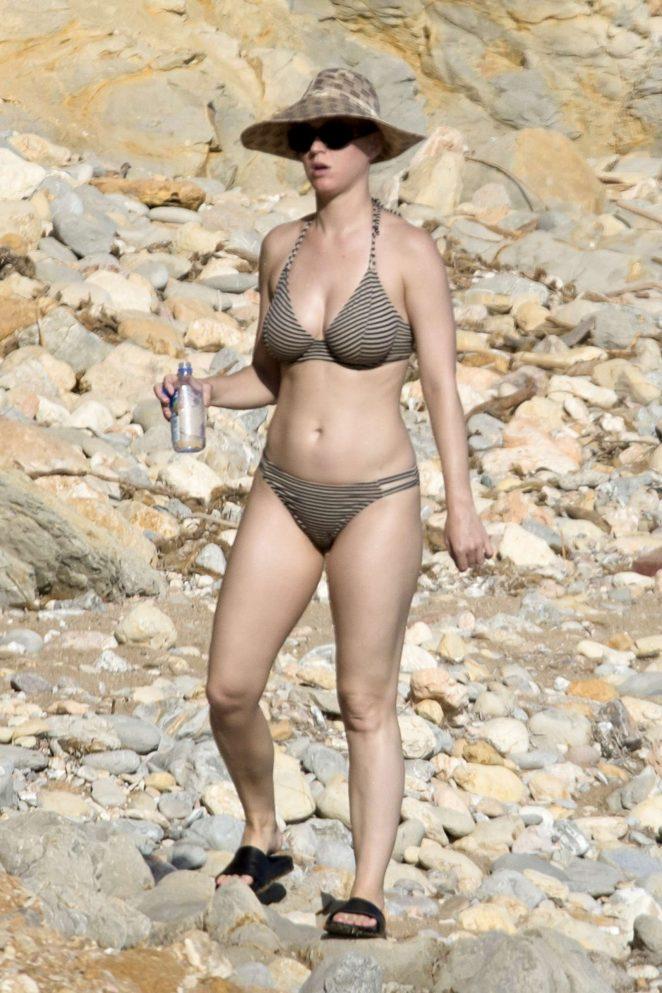 Katy Perry in Bikini on the beach in Ibiza