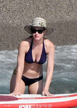 Katy Perry in Blue Bikini on vacation in Italy