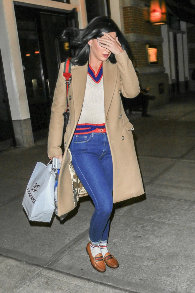katy perry in jeans out in new york