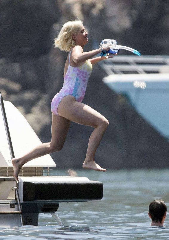 Katy Perry in Swimsuit on holiday in Mallorca