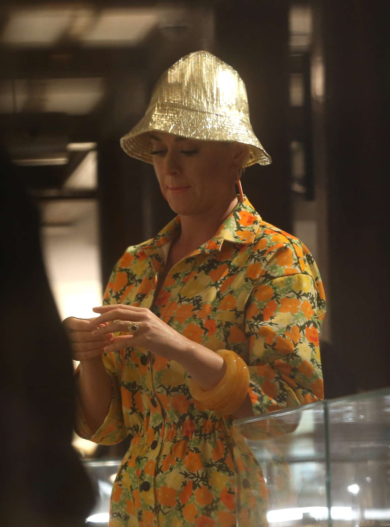 Katy Perry - Jewellery shopping at Liberty London in London