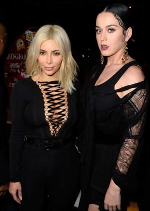 Katy Perry & Kim Kardashian -  Givenchy Fashion Show 2015 in Paris