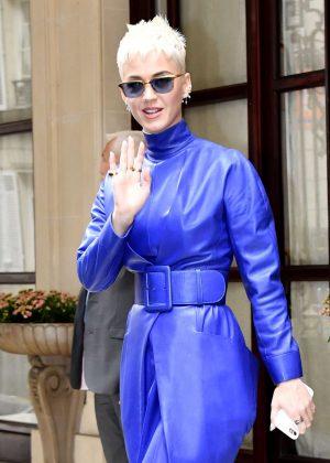 Katy Perry - Leaving Hotel Meurice in Paris