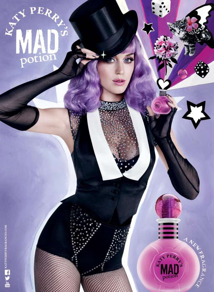 katy perry mad potion fragrance ad. Black Bedroom Furniture Sets. Home Design Ideas