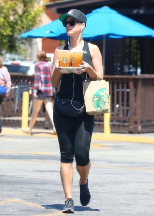 Katy Perry on a Starbucks Run in Studio City