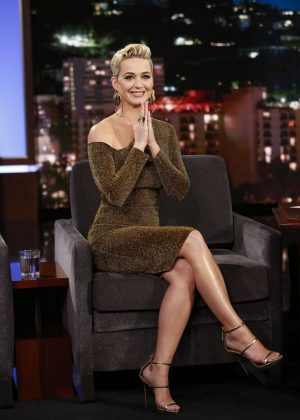 Katy Perry on 'Jimmy Kimmel Live' in Los Angeles