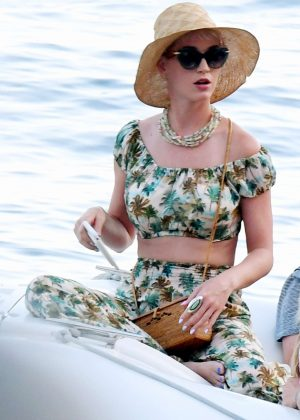 Katy Perry - Out and about in Amalfi