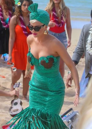 Katy Perry - Promotional photos 'America Idol' on a beach in Honolulu
